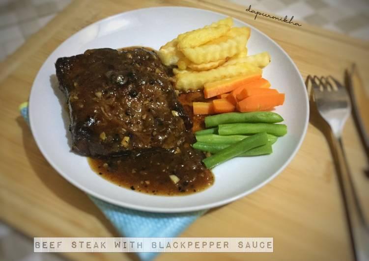Resep Beef Steak With Blackpepper Sauce