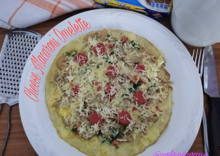 Resep Cheese Macaroni Omelette