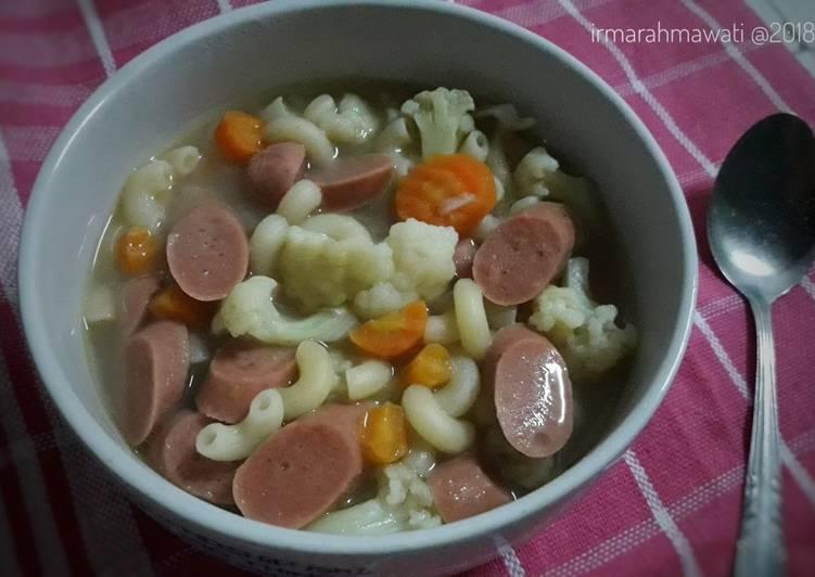 Resep Sup Makaroni Sosis
