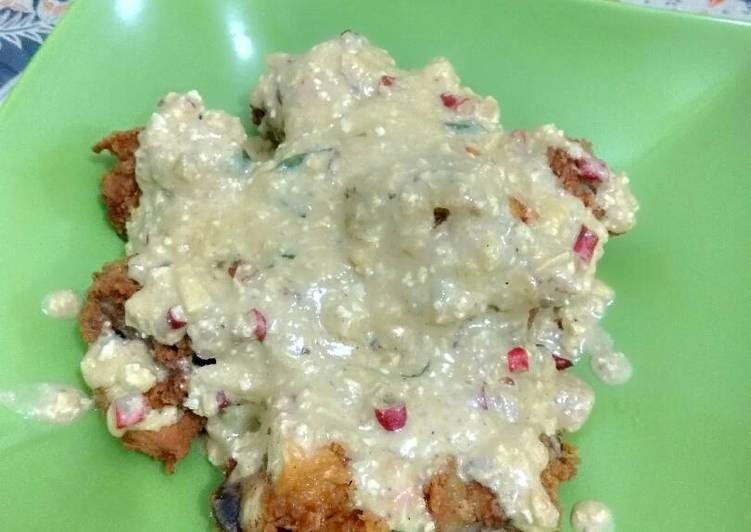 Resep Salted egg chicken / ayam saos telur asin