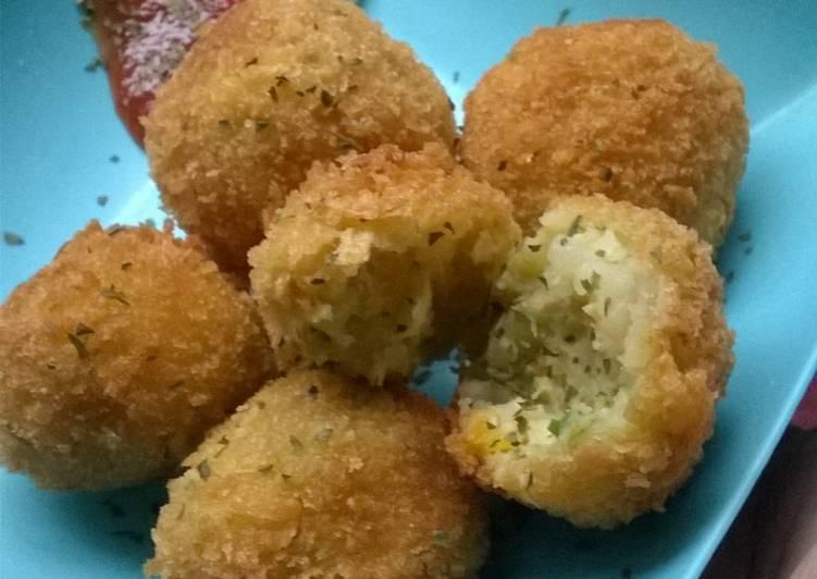 Resep Perkedel Kentang Seafood Crispy
