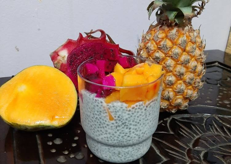 Resep Chia Pudding with Tropical Fruit