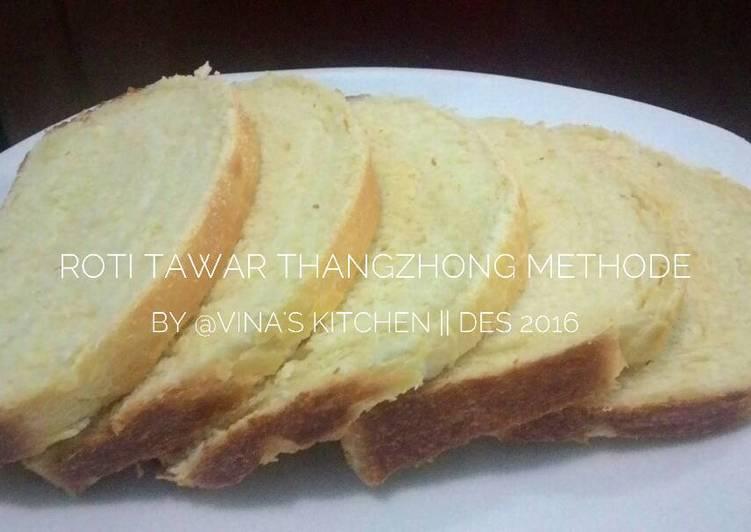 Resep ROTI TAWAR waterroux/thangzhong methode,empuk recomended bgt
