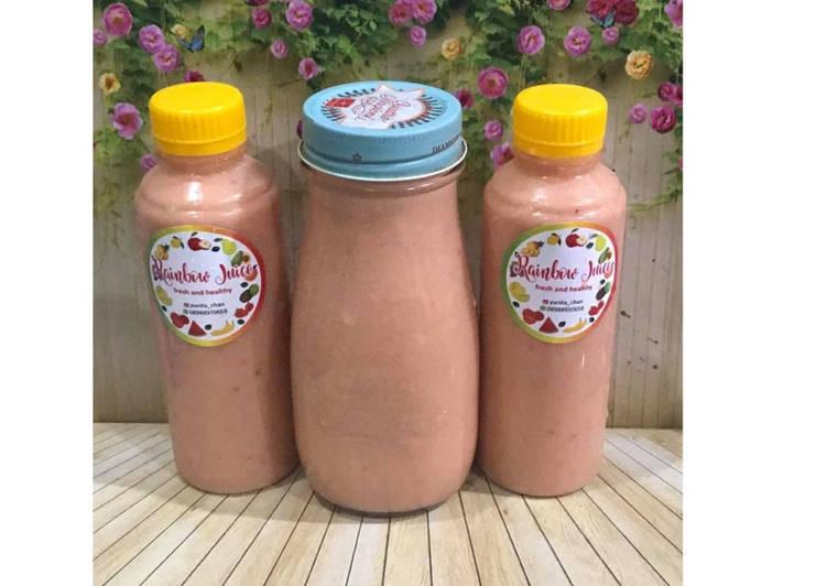 Resep Diet Juice Mango Walnut Pomegranate Raspberry
