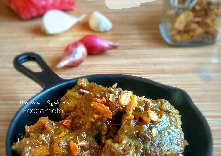 Resep Daging Sapi Bumbu Basah (versi manis)