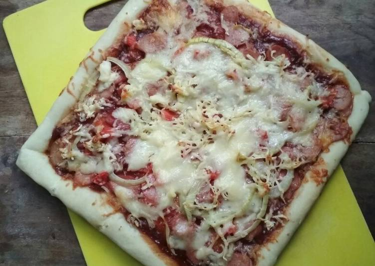 Resep Pizza Sausage BBQ Sauce