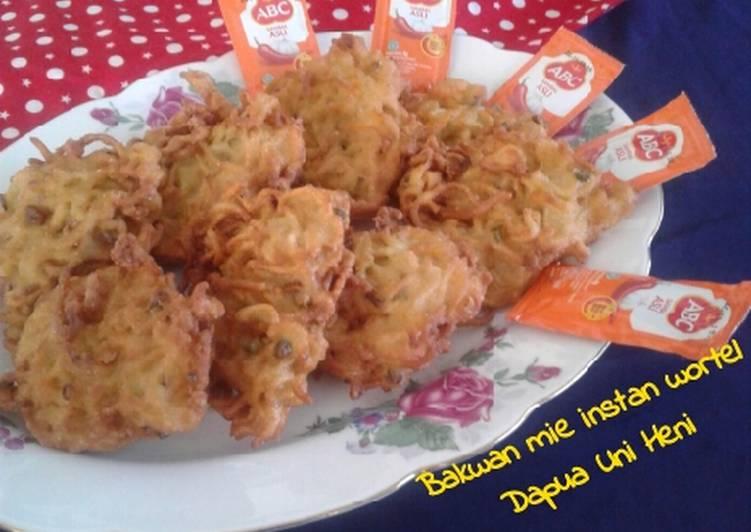 Resep Bakwan mie instan wortel