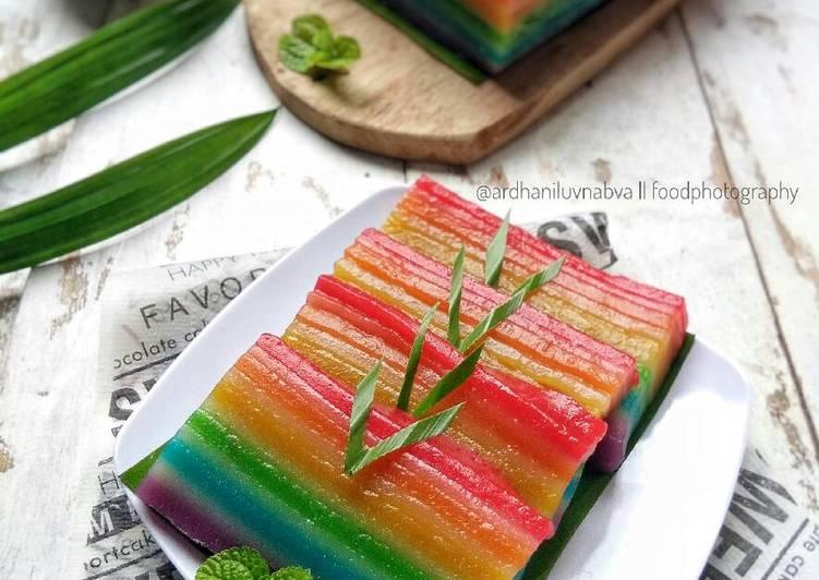 Resep Lapis Rainbow (part #pr_lapistradisional