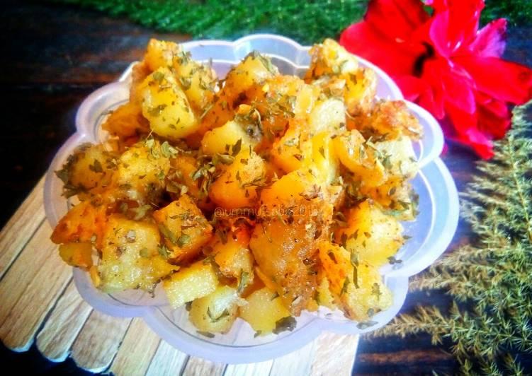 Resep 0Garlic Potato / Kentang Bawang (MPASI 1y+*)