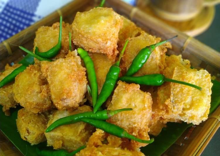 Resep Crispy Tofu atau Tahu Kriuk Viral