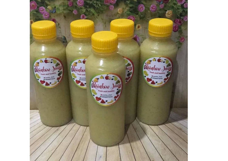 Resep Diet Juice Kiwi Broccoli Jicama Ambarella Orange