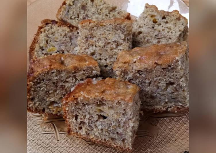 Resep Cake Pisang Kacang tanpa Mixer