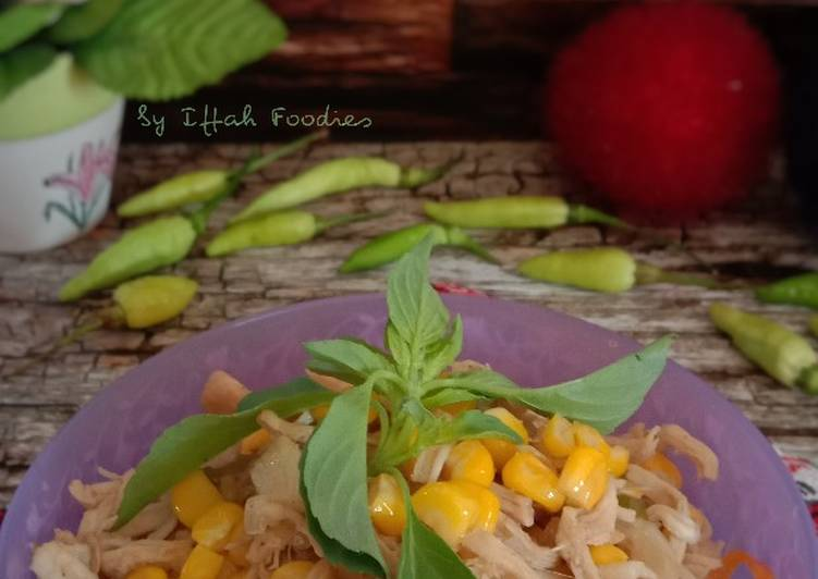 Resep Ayam Suwir Jagung