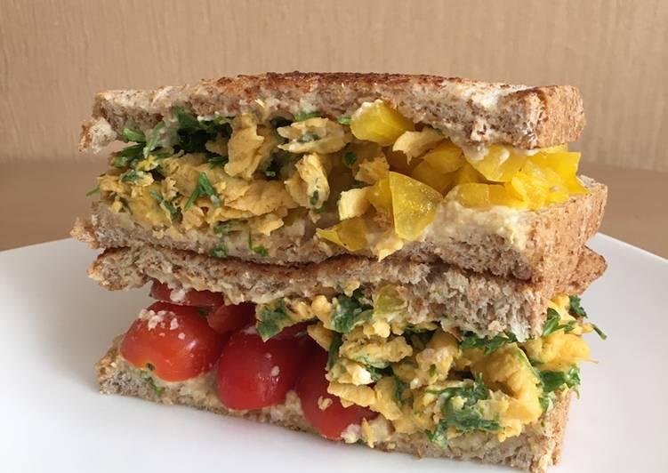 Resep Hummus Vegie Sandwich