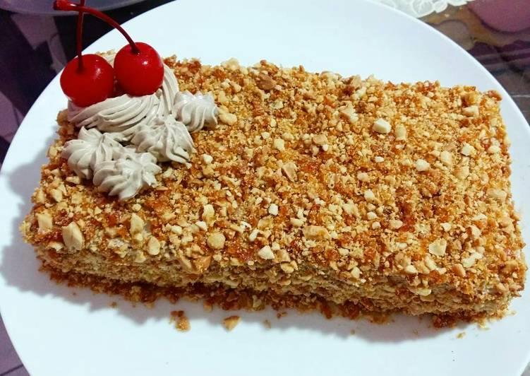 Resep Mocca nougat cake