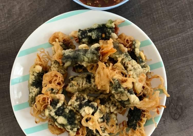 Resep Gimmari (Crispy Seaweed Noodle Rolls)