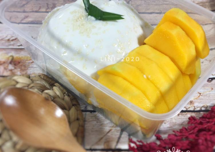 Resep Mango Sticky Rice Thailand - dessert manis ketan mangga