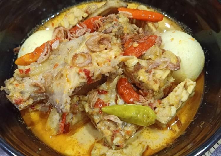 Resep Ayam Masak Opor Pedas