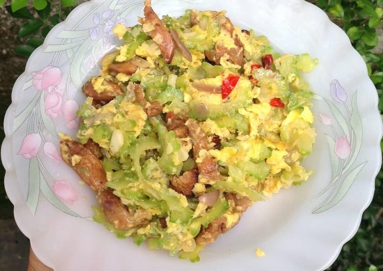 Resep Osng Pare Telur dan Ayam Sisa Sate