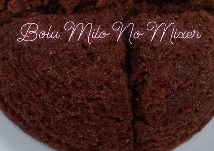 Resep Bolu Milo No Mixer