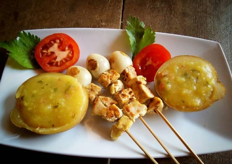 Resep Sate Ayam Puyuh Saus Kentang (mpasi for baby 8m+)
