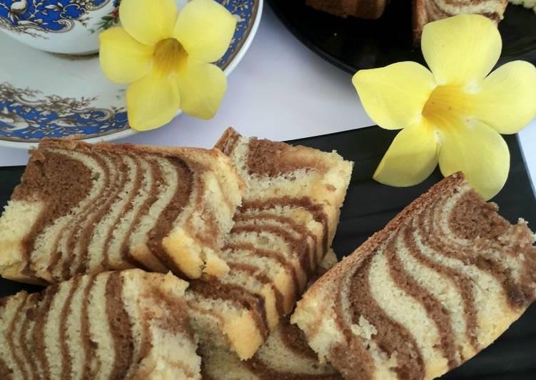 Resep Zebra Cake (Putih Telur)