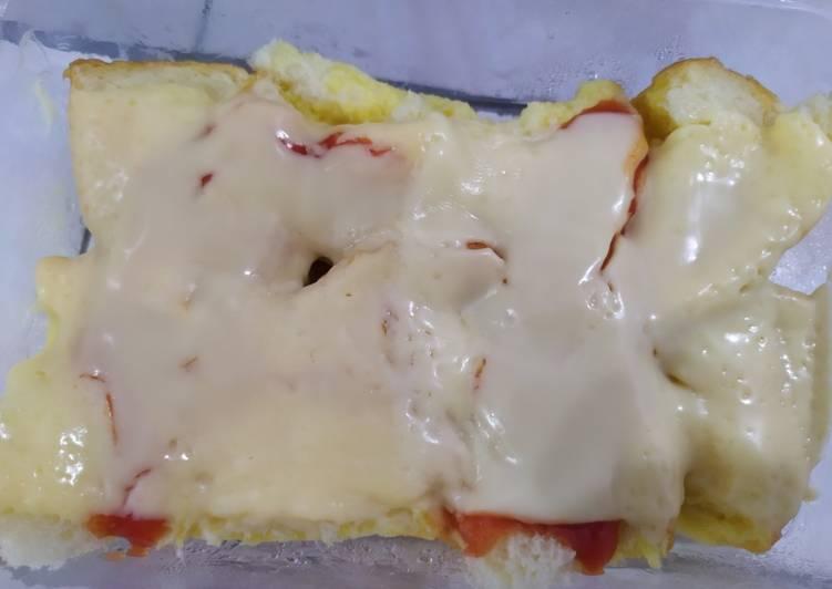 Resep Pizza kukus (?) roti tawar