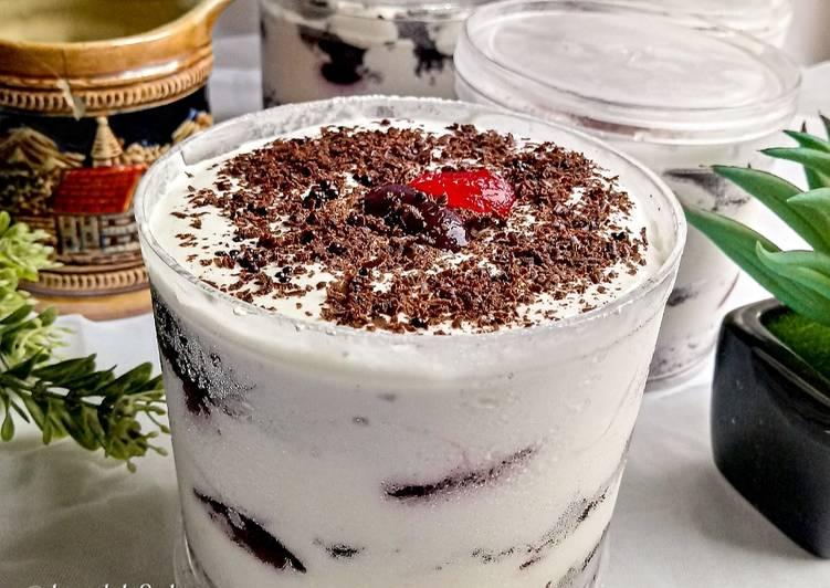 Resep Blackforest Dessert Box