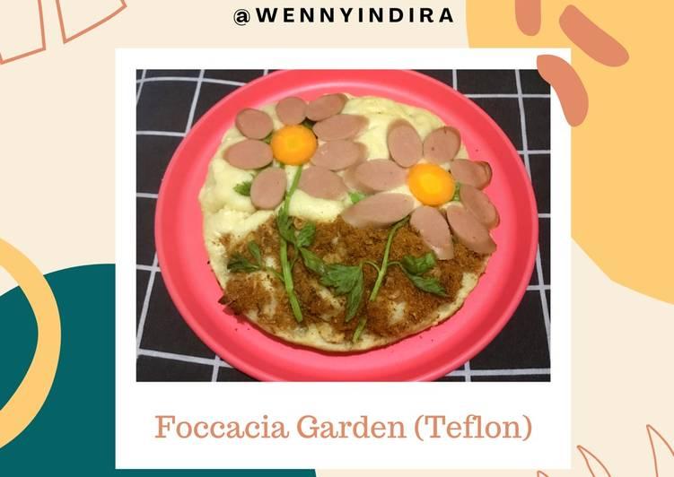 Resep [Foccacia Garden (Teflon)