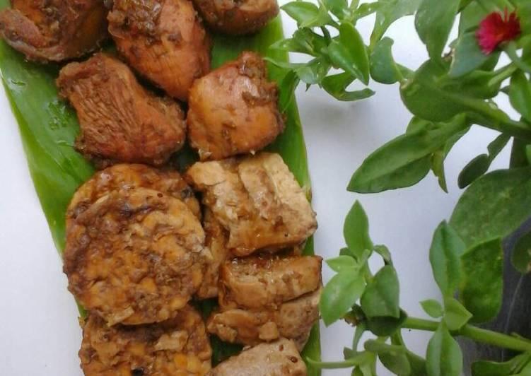 Resep Baceman ayam, tahu dan tempe