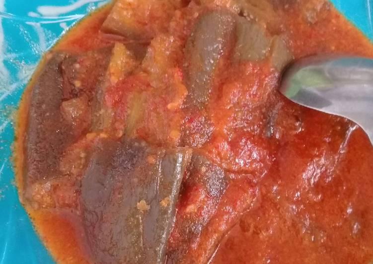 Resep Terong pedas santan simpel