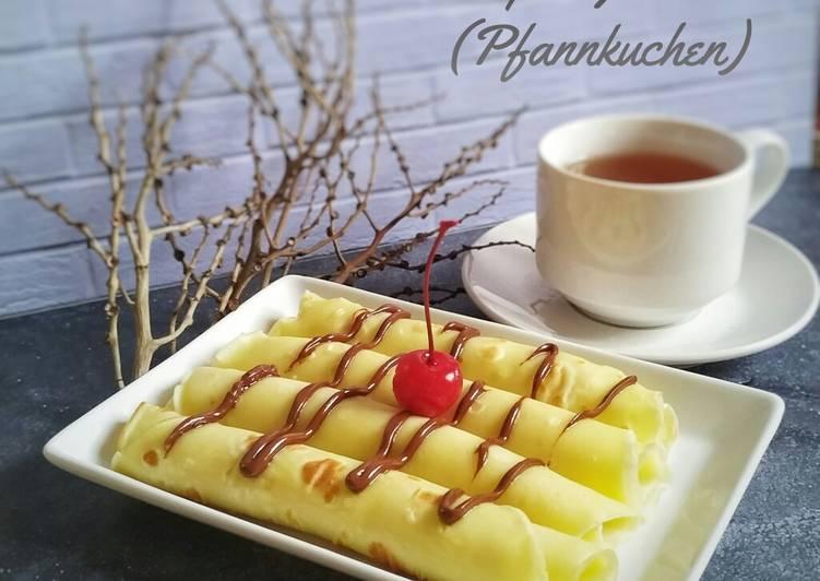 Resep Crepes German/ Pfannkuchen/Pancake German