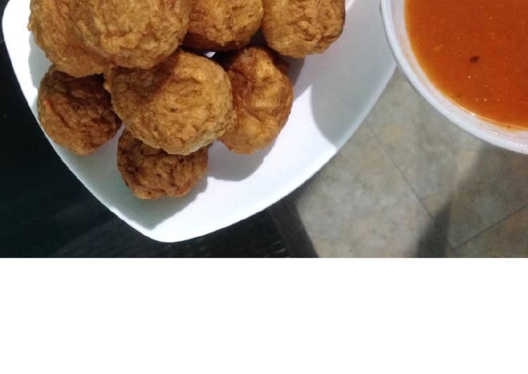 Resep Bakso Goreng Ayam / Baso Goreng Ayam