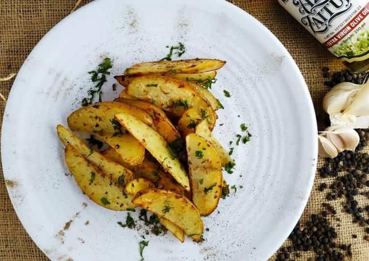 Resep Potatoes Wedges Black Paper