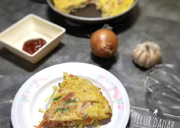 Resep Telur Dadar Kornet Simple