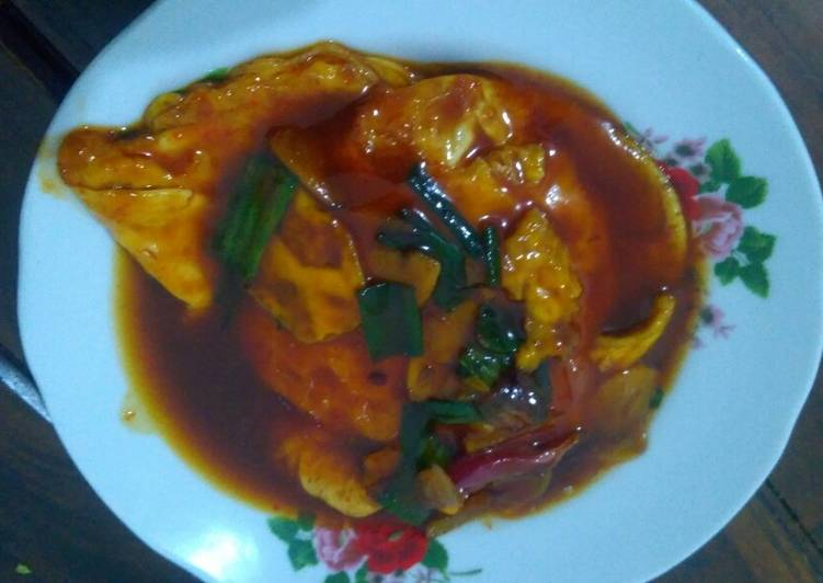 Resep Telor ceplok sauce