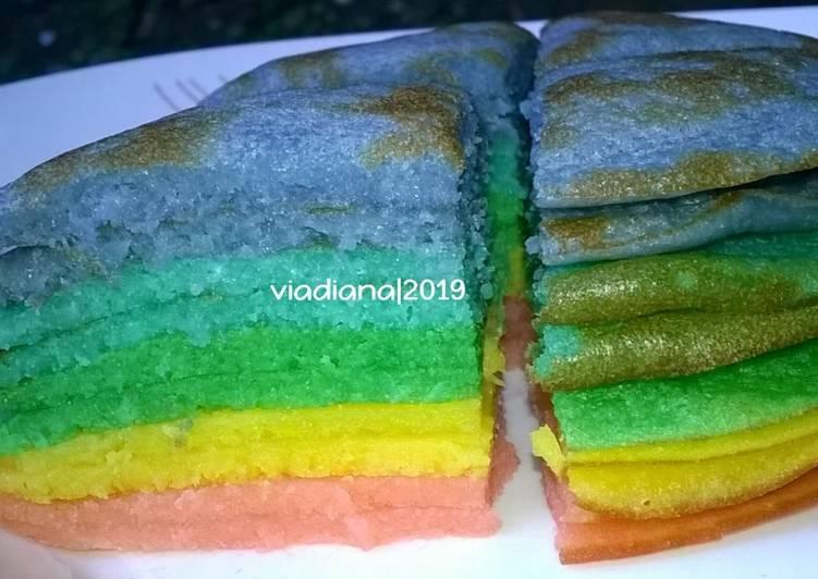 Resep Mini Rainbow Pancake