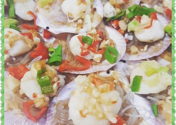 Resep Steamed scallops with garlic (tim scallop bawang putih)