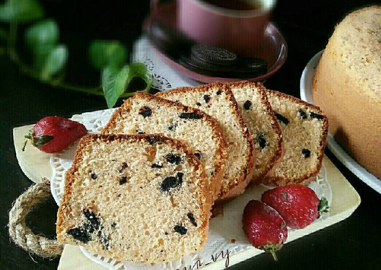Resep Cake NUTRIJELL YOGHURT strawberry mix Oreo