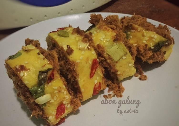 Resep Flossroll / abon gulung