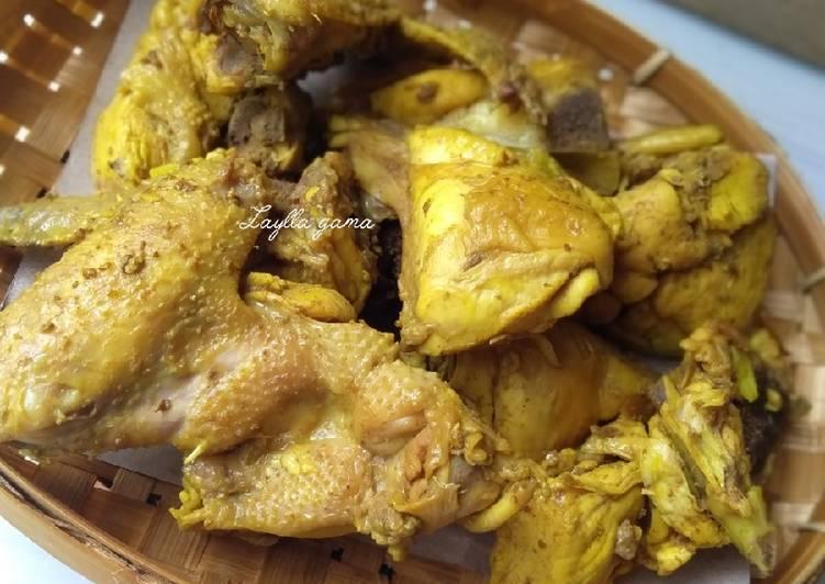 Resep Ayam ungkep bumbu kunyit