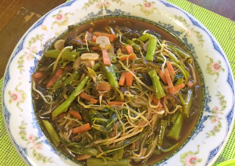 Resep Kangkung Jamur Saos Tiram