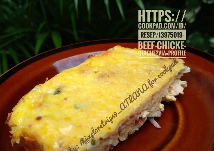 Resep Beef & Chicken Quiche