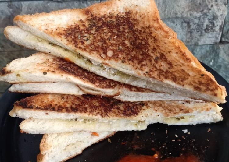 Resep Chicken garlic bread simple