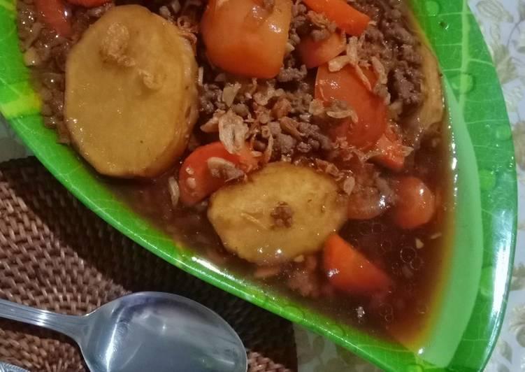Resep Daging Giling Kuah Manis