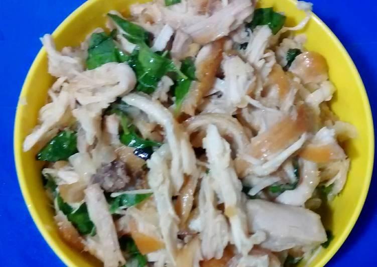 Resep Ayam suwir-suwir tanpa cabe
