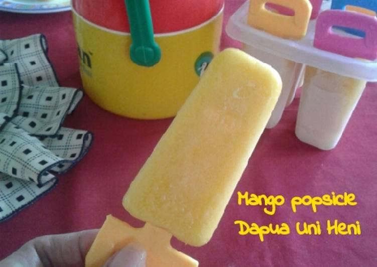Resep Mango popsicle