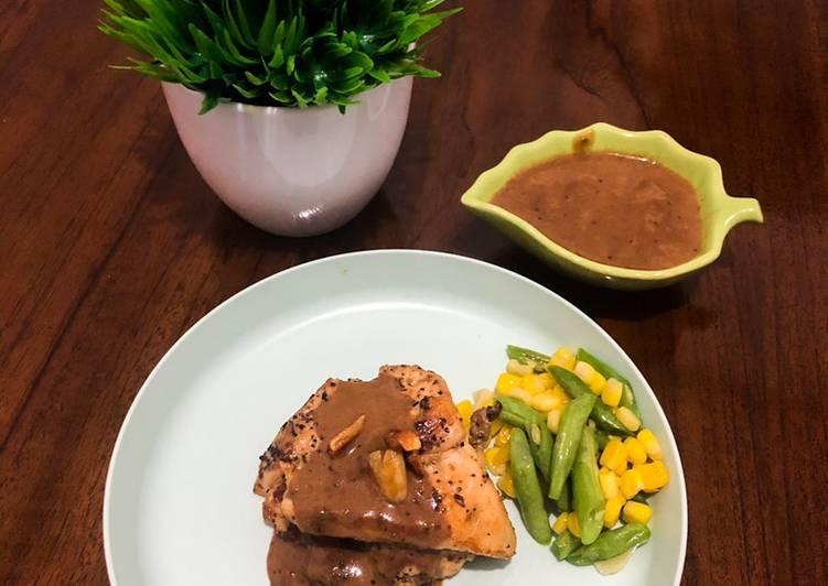 Resep Chicken Steak Lada Hitam