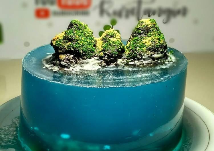 Resep Island cake Kue Pulau Tanpa Gelatin