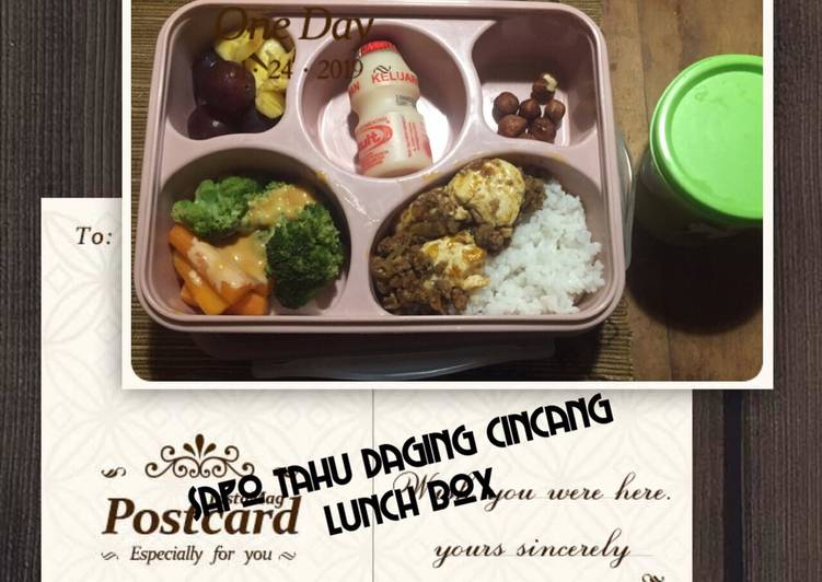 Resep Sapo tahu daging cincang lunch box